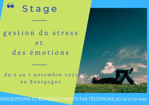 Stage gestion du stress et des émotions  - Le Creusot